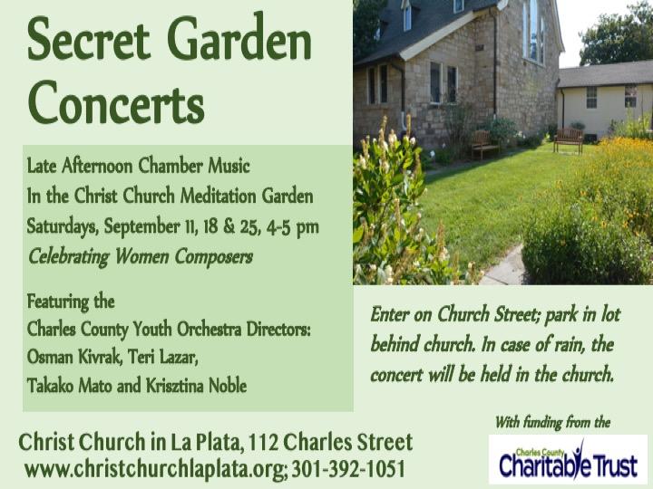Flyer-Secret Garden Concerts